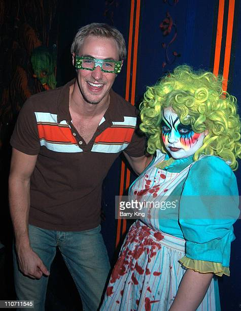 Kyle Lowder in Malice in Wonderland Maze during Days Of Our Lives Stars Visit Knott's Berry Farms Halloween Haunt at Knott's Berry Farm in Buena Park...