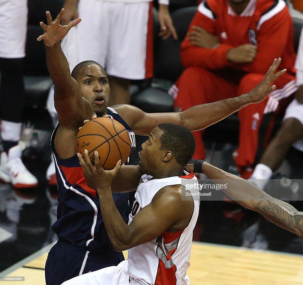 Toronto Raptors open the 2014-15 season with a 109-102 win against the Atlanta Hawks : News Photo