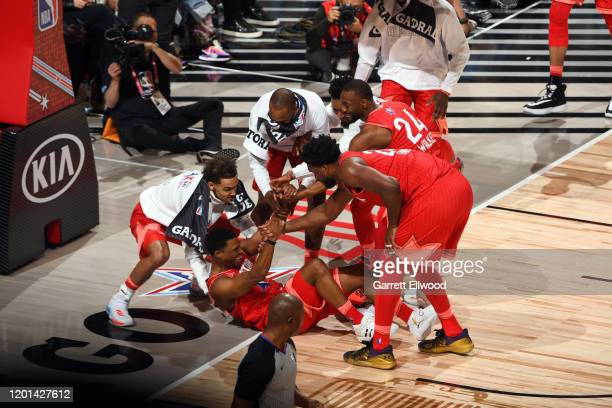 Kyle Lowry of Team Giannis takes the charge during the 69th NBA AllStar Game on February 16 2020 at the United Center in Chicago Illinois NOTE TO...