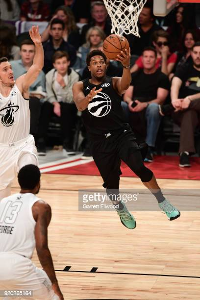 Kyle Lowry of Team Stephen goes to the basket against Team LeBron during the NBA All-Star Game as a part of 2018 NBA All-Star Weekend at STAPLES...