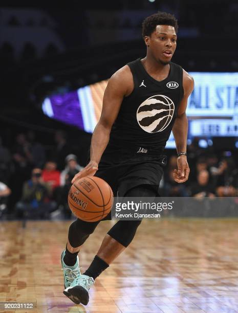 Kyle Lowry of Team Stephen pushes the action during the NBA AllStar Game 2018 at Staples Center on February 18 2018 in Los Angeles California