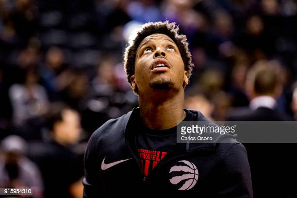 TORONTO ON FEBRUARY 8 Kyle Lowry of the Raptors before the 1st half of NBA action as the Toronto Raptors host the New York Knicks at the Air Canada...