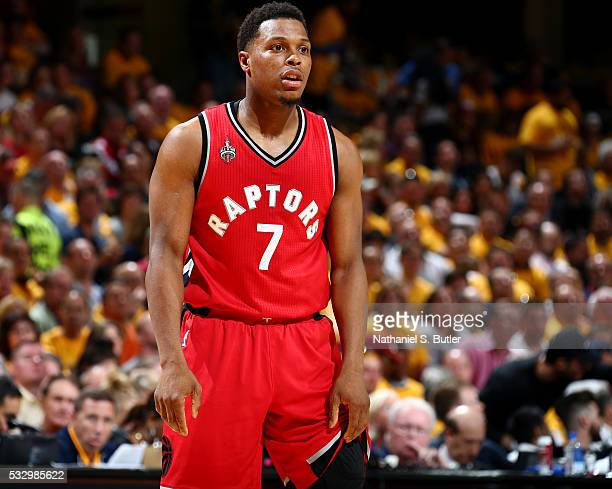Kyle Lowry of the Toronto Raptors during Game Two of the Eastern Conference Finals during the 2016 NBA Playoffs against the Cleveland Cavaliers on...