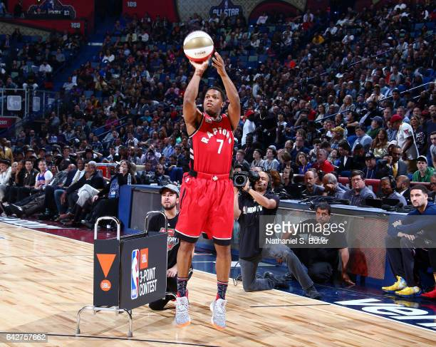 Kyle Lowry of the Toronto Raptors during the JBL ThreePoint Contest during State Farm AllStar Saturday Night as part of the 2017 NBA AllStar Weekend...