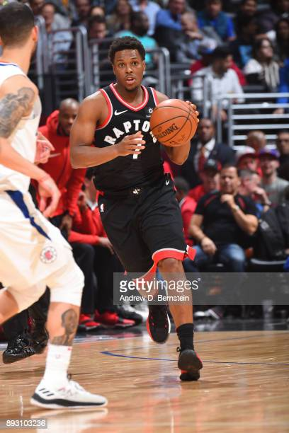 Kyle Lowry of the Toronto Raptors handles the ball against the LA Clippers on December 11 2017 at STAPLES Center in Los Angeles California NOTE TO...