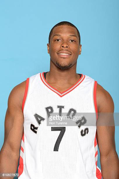 Kyle Lowry of the Toronto Raptors poses for a head shot during the 20162017 Media Day on September 26 2016 at the BioSteel Centre in Toronto Ontario...