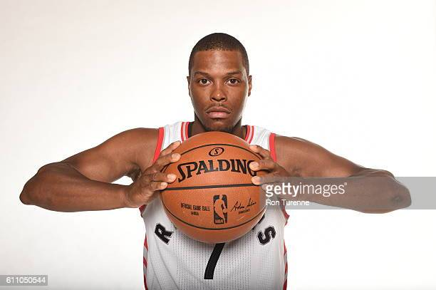 Kyle Lowry of the Toronto Raptors poses for a portrait during 2016 Media Day on September 28 2016 at the BioSteel Centre in Toronto Ontario Canada...