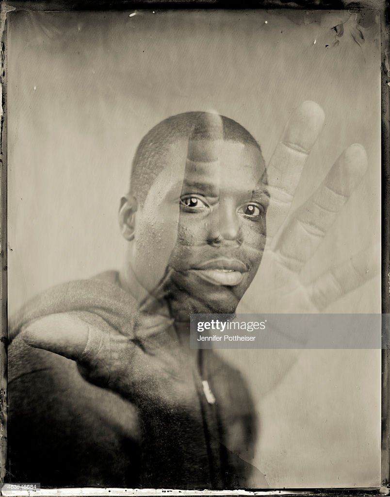 Kyle Lowry of the Toronto Raptors poses for portraits during the NBAE Circuit as part of 2015 All-Star Weekend at the Sheraton Times Square Hotel on February 12, 2015 in New York, New York.