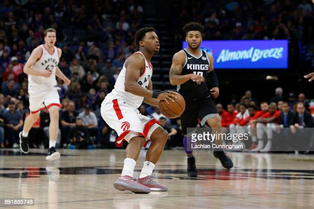 Kyle Lowry of the Toronto Raptors shoots the ball against the Sacramento Kings at Golden 1 Center on December 10 2017 in Sacramento California NOTE...