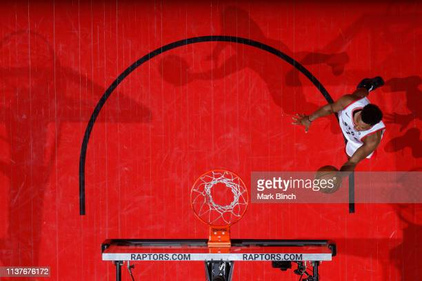 Kyle Lowry of the Toronto Raptors shoots the ball against the Orlando Magic during Game Two of Round One of the 2019 NBA Playoffs on April 16 2019 at...