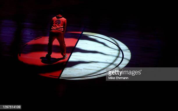 Kyle Lowry of the Toronto Raptors takes the floor during a game against the Charlotte Hornets at Amalie Arena on January 20, 2021 in Tampa, Florida....