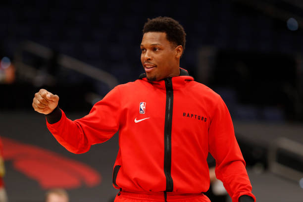 Kyle Lowry of the Toronto Raptors warms up before the game against the Miami Heat January 20, 2021 at Amalie Arena in Tampa, Florida. NOTE TO USER:...