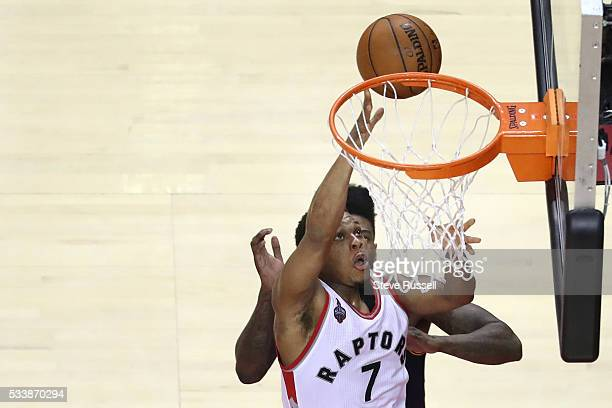Kyle Lowry scored 35 points as the Toronto Raptors beat the Cleveland Cavaliers in game 4 of the NBA Conference Finals in Toronto May 23 2016