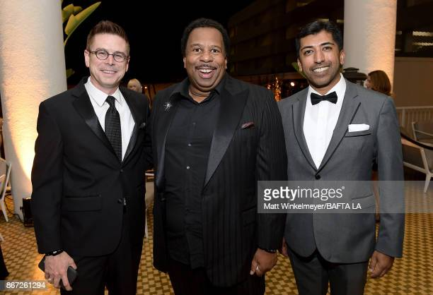Kyle Mabry Leslie David Baker and Nashir Hirjee attend the 2017 AMD British Academy Britannia Awards Presented by American Airlines And Jaguar Land...