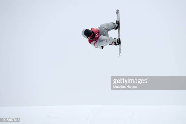 Kyle Mack of the United States competes during the Men's Big Air Final Run 1 on day 15 of the PyeongChang 2018 Winter Olympic Games at Alpensia Ski...