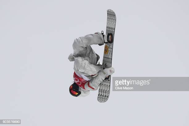 Kyle Mack of the United States competes during the Men's Big Air Final on day 15 of the PyeongChang 2018 Winter Olympic Games at Alpensia Ski Jumping...