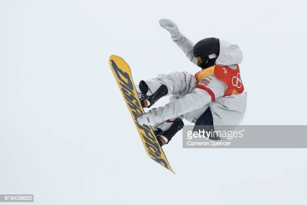 Kyle Mack of the United States trains ahead of the Men's Slopestyle qualification on day one of the PyeongChang 2018 Winter Olympic Games at Phoenix...