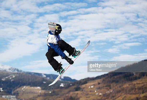 Kyle Mack of USA competes during the Men's Snowboard Slopestyle Final of the FIS Freestyle Ski and Snowboard World Championship 2015 on January 21...