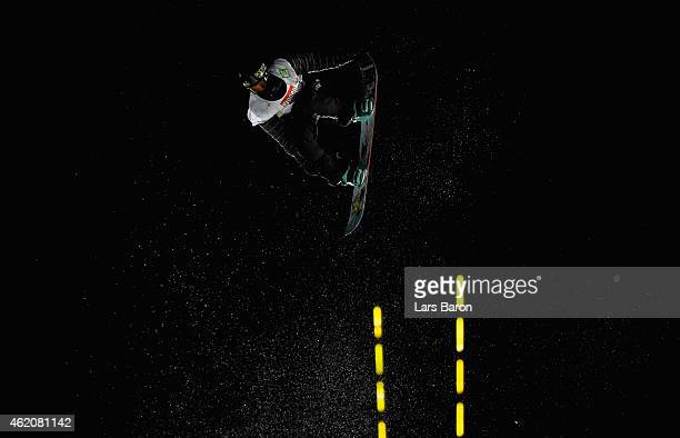 Kyle Mack of USA competes in the Men's Big Air Finals during the FIS Freestyle Ski and Snowboard World Championships 2015 on January 24 2015 in...