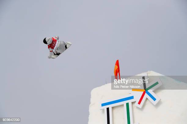 Kyle Mack of USA during the Snowboard Mens Big Air Finals at Alpensia Ski Jumping Centre on February 24 2018 in Pyeongchanggun South Korea