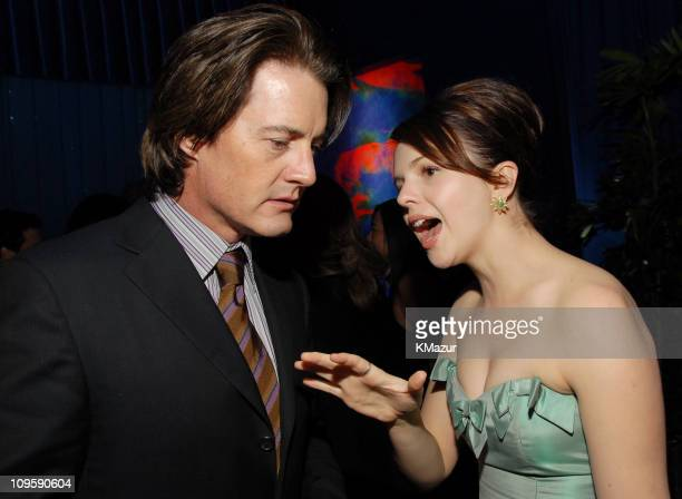 Kyle MacLachlan and Amber Tamblyn during InStyle & Warner Bros. 2006 Golden Globes After Party - Inside at Beverly Hilton in Beverly Hills,...