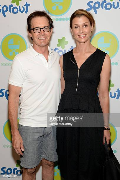 Kyle MacLachlan and Bridget Moynahan attend Jessica And Jerry Seinfeld host the 2014 Baby Buggy Bedtime Bash sponsored sy Sprout on June 4 2014 in...