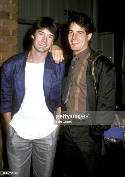 Kyle MacLachlan and Brother during Kyle MacLachlan Sighting at Directors Guild Theater September 15 1986 at Director's Guild Theater in West...