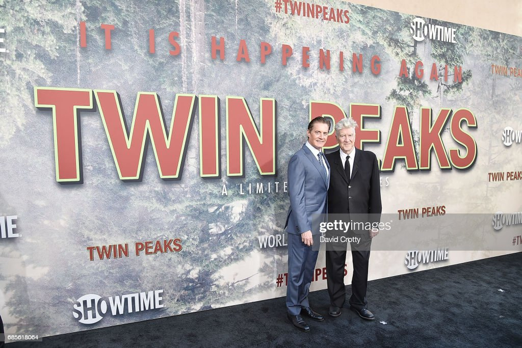 Kyle MacLachlan and David Lynch attend the World Premiere Of Showtime's 'Twin Peaks' - Arrivals at The Theatre at Ace Hotel on May 19, 2017 in Los Angeles, California.