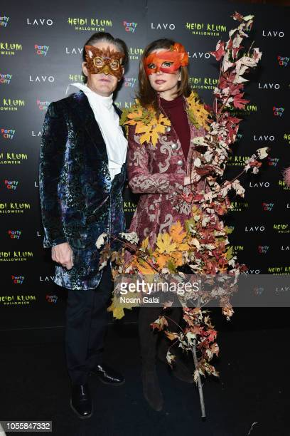 Kyle MacLachlan and Desiree Gruber attend Heidi Klum's 19th Annual Halloween Party presented by Party City and SVEDKA Vodka at LAVO New York on...