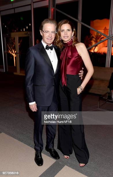 Kyle MacLachlan and Desiree Gruber attend the 2018 Vanity Fair Oscar Party hosted by Radhika Jones at Wallis Annenberg Center for the Performing Arts...