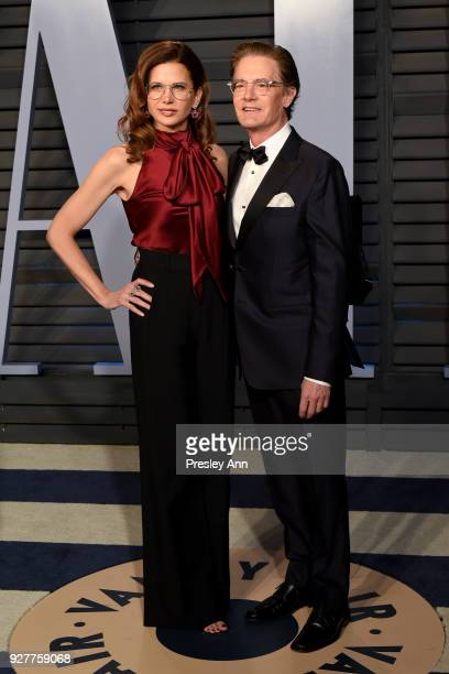 Kyle MacLachlan and Desiree Gruber attend the 2018 Vanity Fair Oscar Party Hosted By Radhika Jones Arrivals at Wallis Annenberg Center for the...