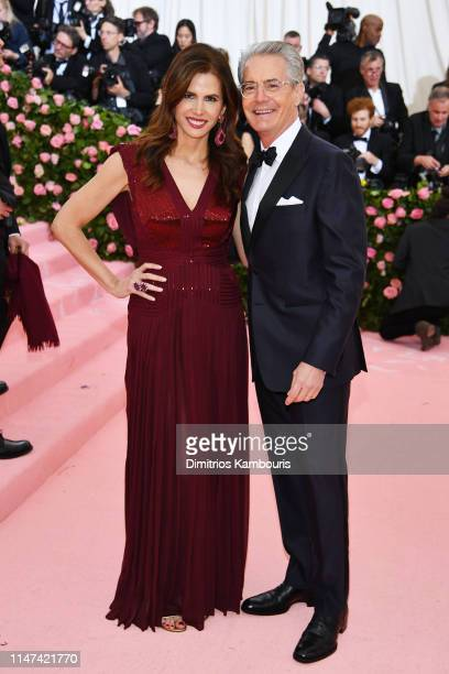Kyle MacLachlan and Desiree Gruber attend The 2019 Met Gala Celebrating Camp Notes on Fashion at Metropolitan Museum of Art on May 06 2019 in New...