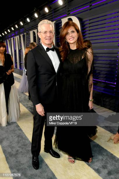 Kyle MacLachlan and Desiree Gruber attend the 2019 Vanity Fair Oscar Party hosted by Radhika Jones at Wallis Annenberg Center for the Performing Arts...