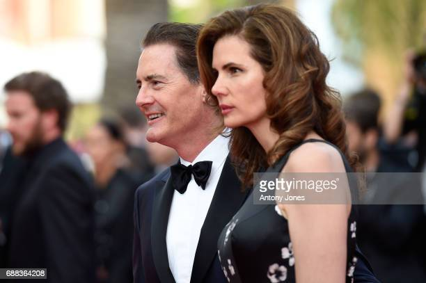Kyle MacLachlan and Desiree Gruber attend the 'Twin Peaks' screening during the 70th annual Cannes Film Festival at Palais des Festivals on May 25...