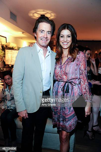 Kyle MacLachlan and Kate Walsh attend the Nathan Turner Celebrates India Hicks Event at Nathan Turner on March 26 2015 in West Hollywood California