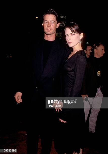 Kyle MacLachlan and Lara Flynn Boyle during The Doors Los Angeles Premiere After Party at The Whiskey in Hollywood California United States