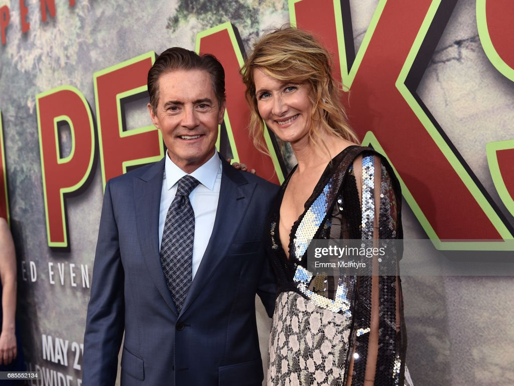 Kyle MacLachlan (L) and Laura Dern attend the premiere of Showtime's 'Twin Peaks' at The Theatre at Ace Hotel on May 19, 2017 in Los Angeles, California.