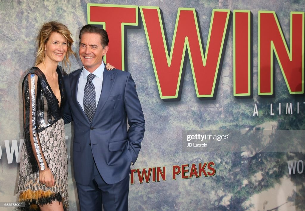 Kyle MacLachlan and Laura Dern attend the premiere of Showtime's 'Twin Peaks' at The Theatre at Ace Hotel on May 19, 2017 in Los Angeles, California.