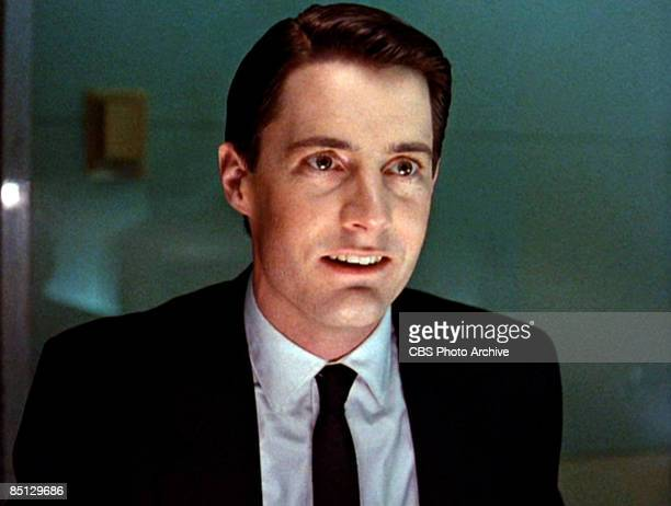 Kyle MacLachlan as Special Agent Dale Cooper from the pilot episode of the hit television series 'Twin Peaks' 1990