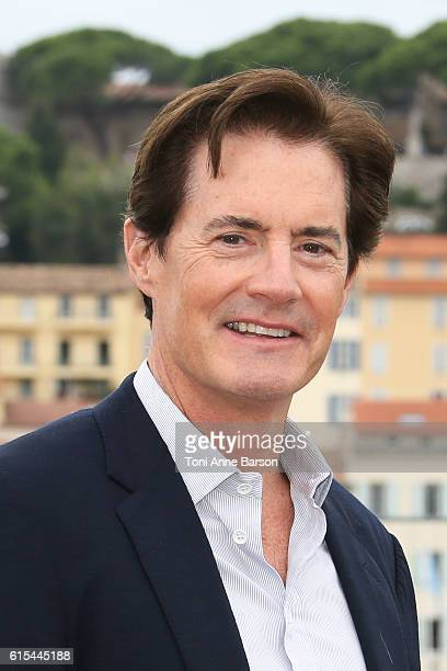 Kyle MacLachlan attends Photocall for Twin Peaks as part of MIPCOM at Palais des Festivals on October 17 2016 in Cannes France