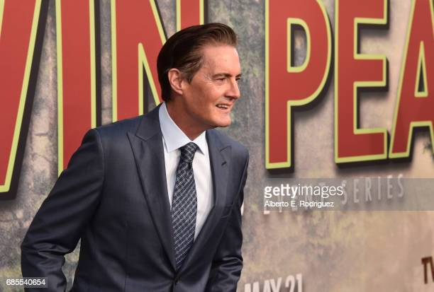 Kyle MacLachlan attends the premiere of Showtime's 'Twin Peaks' at The Theatre at Ace Hotel on May 19 2017 in Los Angeles California