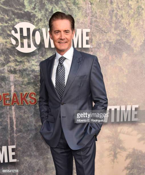 Kyle MacLachlan attends the premiere of Showtime's Twin Peaks at The Theatre at Ace Hotel on May 19 2017 in Los Angeles California