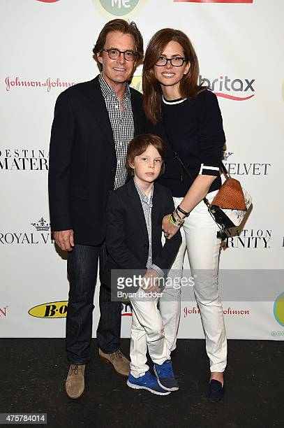 Kyle MacLachlan Desiree Gruber snd Callum Lyon Maclachlan attend the 2015 Baby Buggy Bedtime Bash hosted by Jessica and Jerry Seinfeld and sponsored...