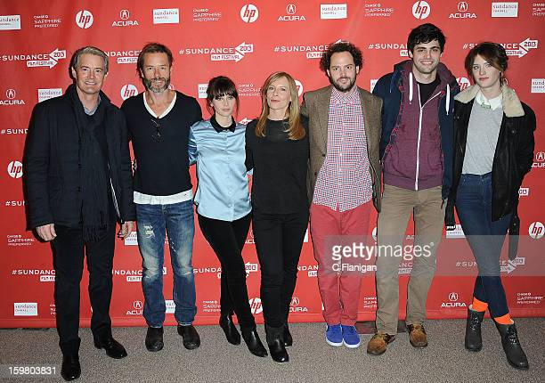 Kyle Maclachlan Guy Pearce Felicity Jones Amy Ryan Drake Doremus John Cooper Matthew Daddario and Mackenzie Davis attend the 'Breathe In' premiere at...