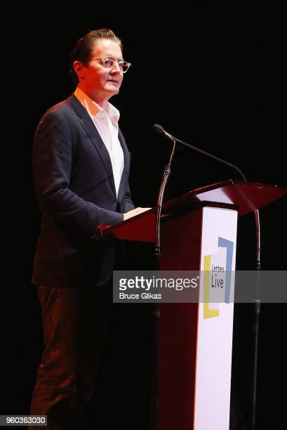 Kyle MacLachlan performs in the New York debut of the hit show 'Letters Live' at Town Hall on May 19 2018 in New York City