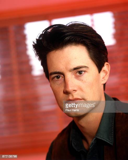 Kyle MacLachlan, star of Twin Peaks is photographed in a Beverly Hills office , August 12, 1991 in Beverly Hills, California