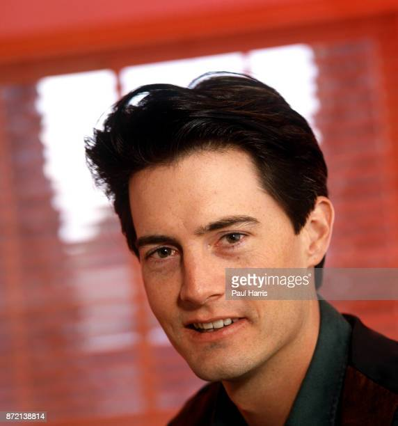 Kyle MacLachlan star of Twin Peaks is photographed in a Beverly Hills office August 12 1991 in Beverly Hills California