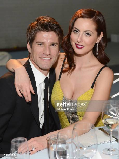 Kyle Martino and Eva Amurri Martino attend The Art of Elysium's 6th Annual HEAVEN Gala presented by Audi at 2nd Street Tunnel on January 12 2013 in...