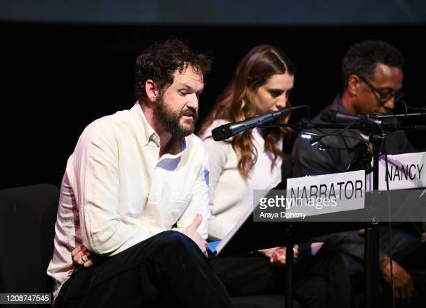 "Kyle Marvin, Daniella Covino and Andre Royo at the Film Independent Screening Series Presents Live Read Of ""Breaking Away"" at Wallis Annenberg Center..."