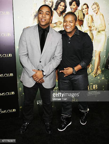 Kyle Massey and Christopher Massey arrive at the Los Angeles premiere of Tyler Perry's The Single Moms Club held at ArcLight Cinemas Cinerama Dome on...